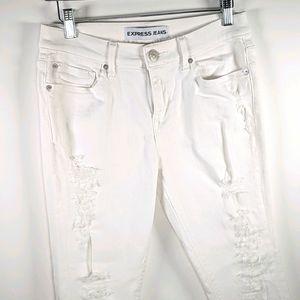 Express white distressed Mia legging jeans